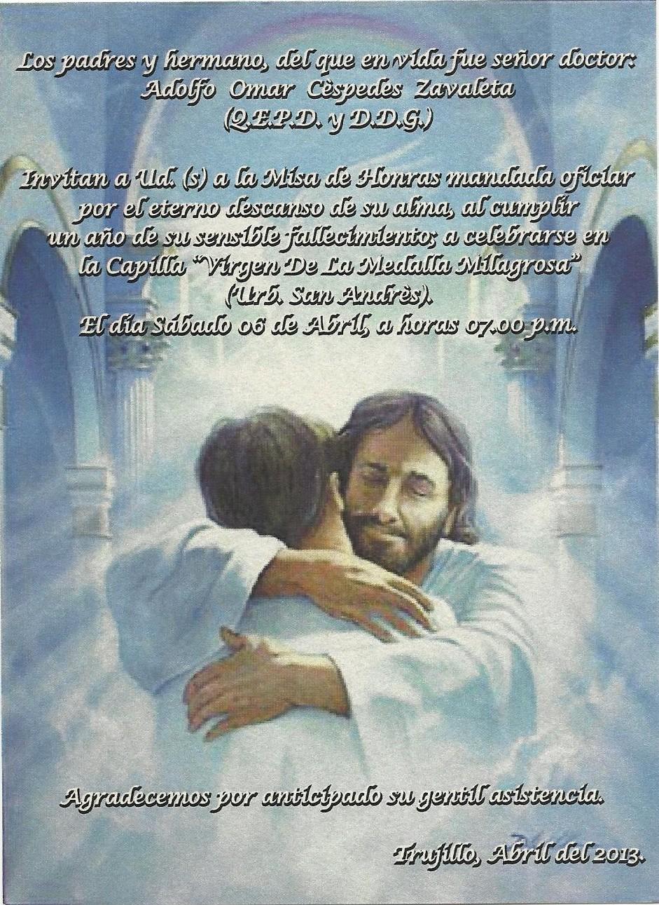 Recuerdos Para Misa De Un Ano