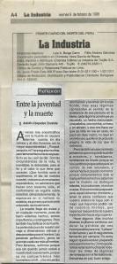 Articulo La Industria Adolfo Cespedes